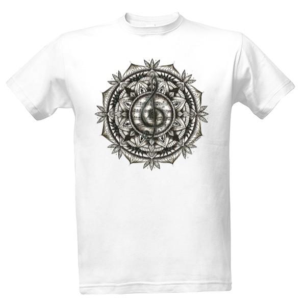 Tričko s potiskem Mandala hudby - pánské  1238157b33