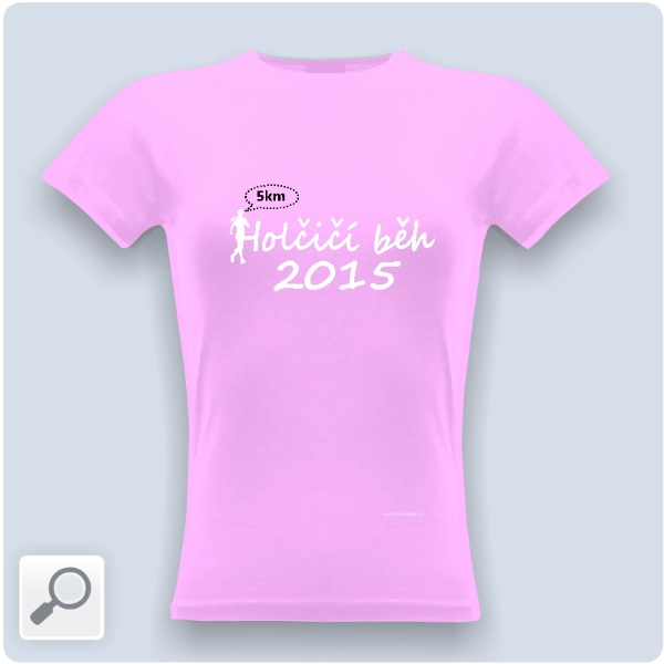24e71f984acb Tričko s potiskem Holčičí běh - 5 km - tričko růžové