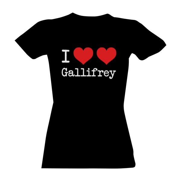 Tričko s potlačou I Love Gallifrey - černé - dámské tričko  7b648c5c3b