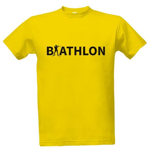 ace24a9c8f15 Tričko s potlačou Biathlon nápis