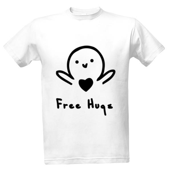 067a155bffdb Tričko s potlačou Free Hugs Tričko