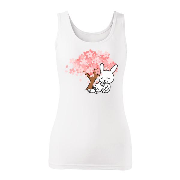 Tričko s potiskem Zamilovaní zajíčci  5158b35baf