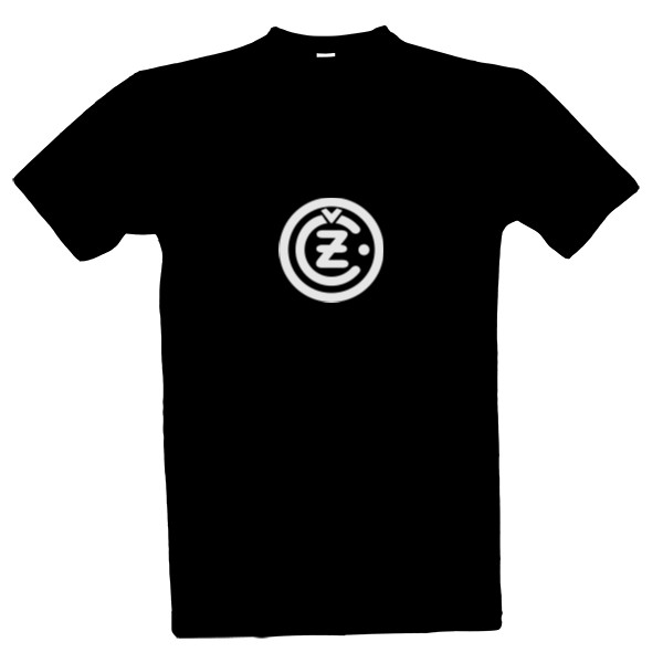 c98d2429435 Tričko s potlačou ČZ - znak moto