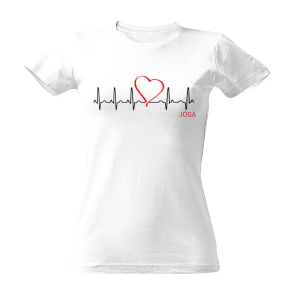Tričko s potlačou Moje srdce bije pro jógu 2  807d68003c