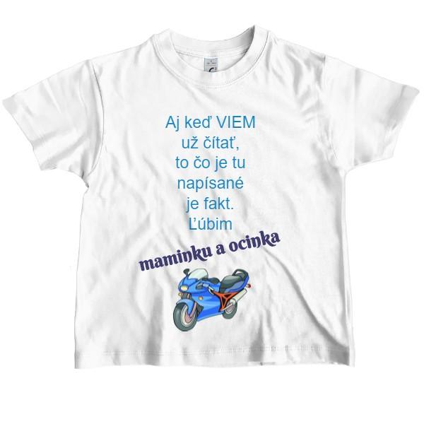 222d87e71f76 Tričko s potlačou ľúbim maminku a ocinka...
