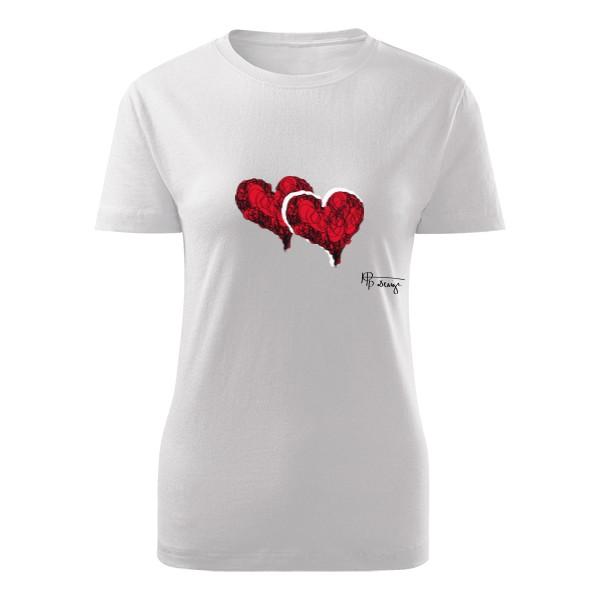 Tričko s potiskem Rudá srdce  cd4b5e161e