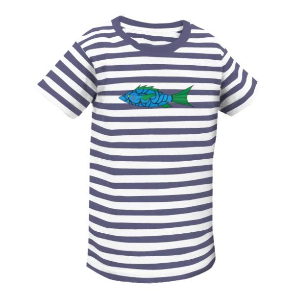 f1a630f2bfe Tričko s potiskem Dětské tričko modrá ryba