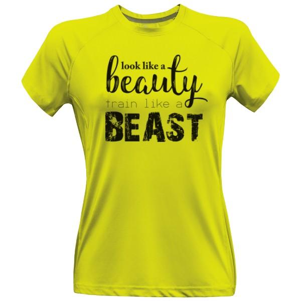 3b8c5aae54271 Dámske športové tričko s potlačou Beauty-Beast športové   T-shock
