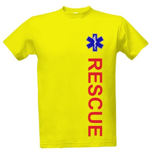 Tričko s potiskem Rescue  3f6ce6d28c