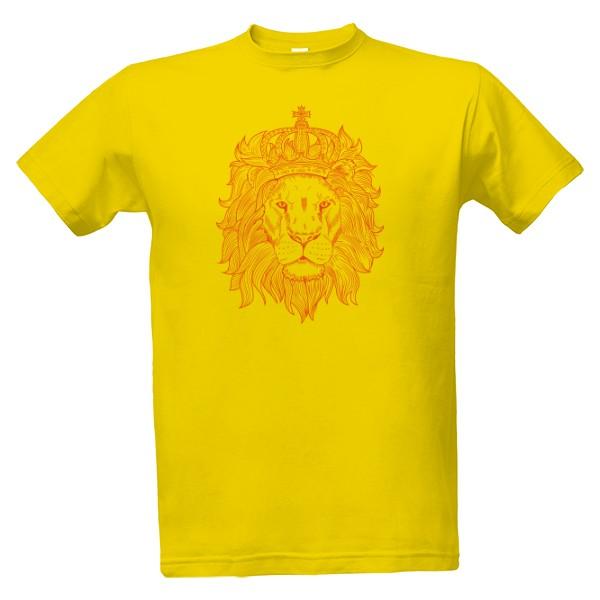 e20ece76d119 Tričko s potlačou Mužské tričko motív lev