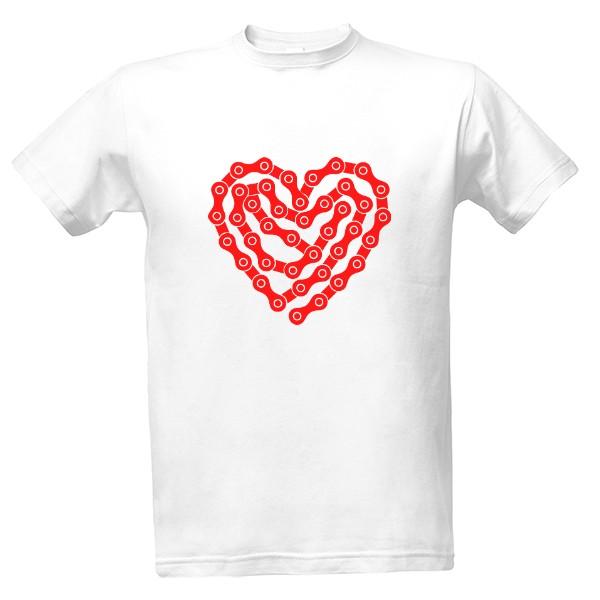 Tričko s potiskem Řetěz ve tvaru srdce  3fbe59244c