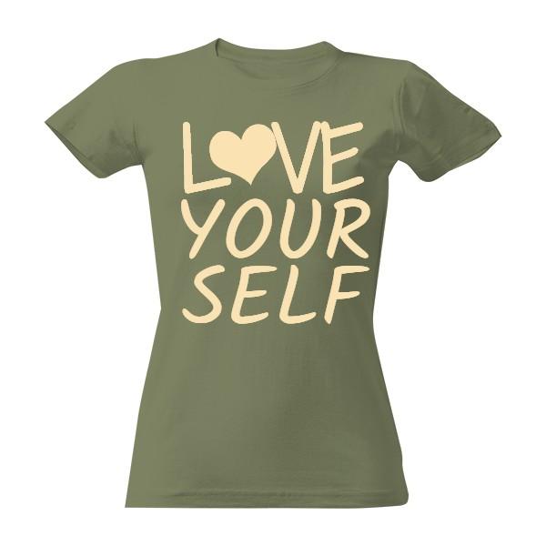 Tričko s potiskem love yourself  b0e1694778
