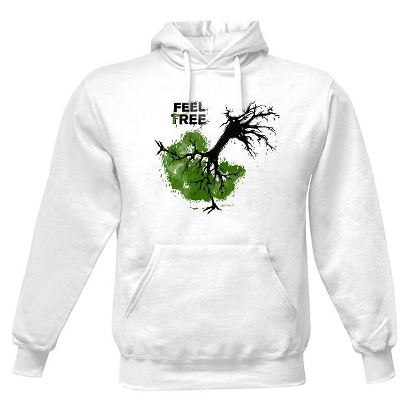 Pánská mikina s kapucí s potiskem Feel Tree - Mikina  d79a9bd3ef