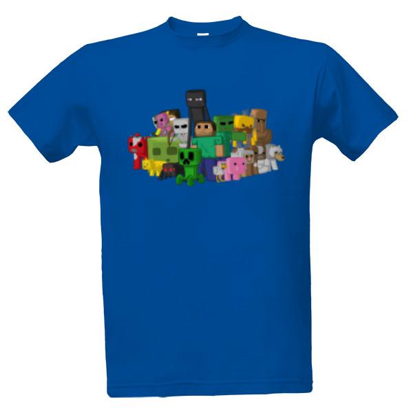 Tričko s potiskem Minecraft postavičky  6eddff4f58
