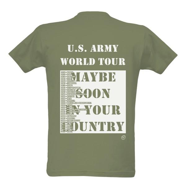 Tričko s potiskem US army tour  4f9a6aac71