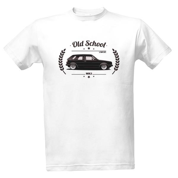 Tričko s potiskem Golf MK2 Old School  7083ae981a
