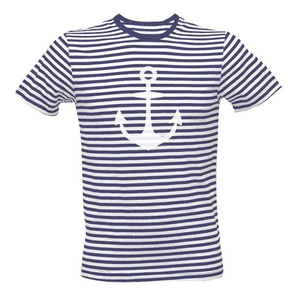 Tričko s potiskem Námořnické pruhované s kotvou 2fb047a602