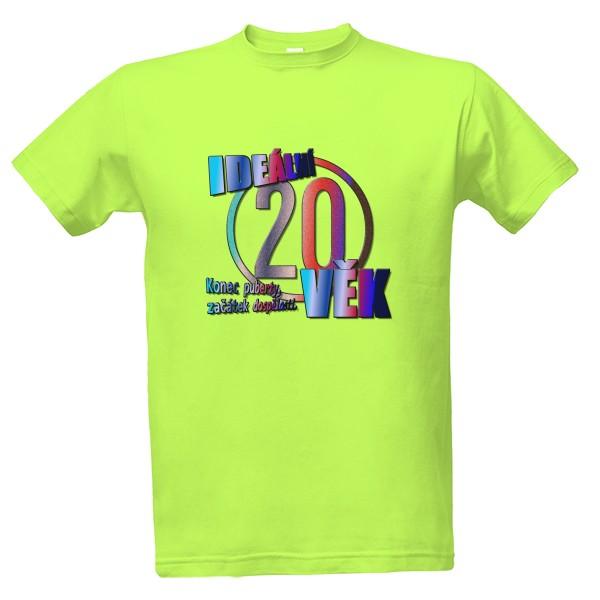 Tričko s potiskem 20 ideální věk fc2e376596