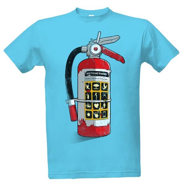 26bdc2439305 Tričko s potiskem Super hasičák - Pánské