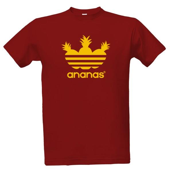 Tričko s potiskem Třípruhový ananas - Pánské b88107e3d0