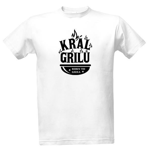 Tričko s potiskem Král Grilů černe gril 7906849d9f