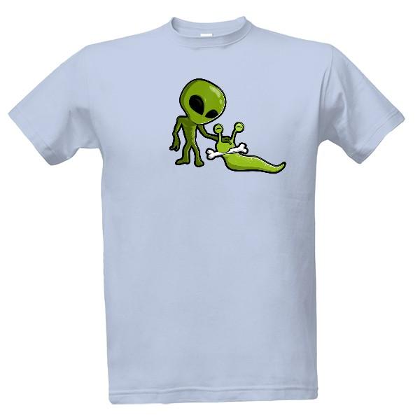 Tričko s potiskem Vesmírný slimák - Pánské 670ca5a0f6
