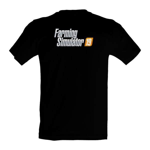 Tričko s potlačou Triko Farming Simulator 19  záda 9d8cbb5f872