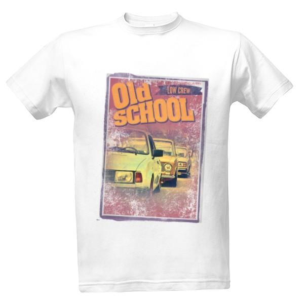 Tričko s potiskem Old School Low Crew 6bc9e21fc7