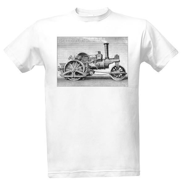 Tričko s potiskem Parní válec 45204fd2fa