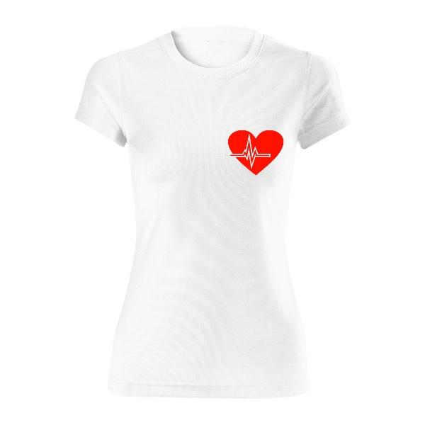 Dámské funkční tričko s potiskem Tričko Běhám pro dobrou věc e2eed55362