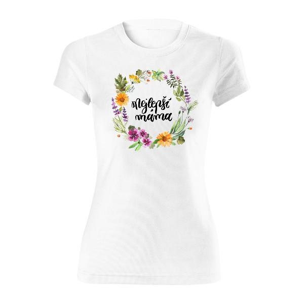 Dámské funkční tričko s potiskem Bylinková máma 813ea8ef68