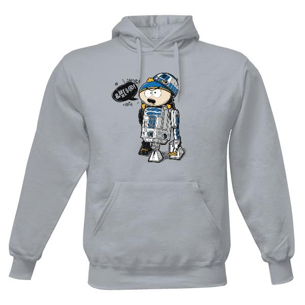Pánská mikina s kapucí s potiskem Cartman R2D2 - Mikina  1b4a02642d