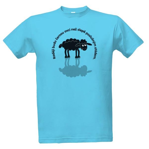 Tričko s potiskem Černá ovce  bf814403e6