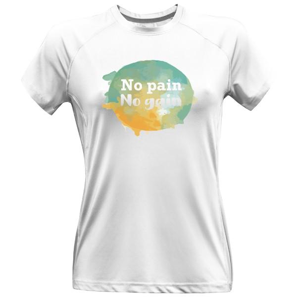 102b5668c57b Dámské sportovní tričko s potiskem No pain