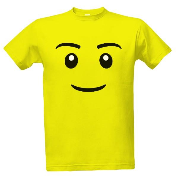 e7563f5c77d5 Tričko s potlačou Emoji oblicej LEGO style