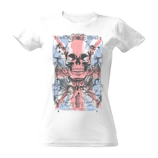 tričko s potiskem England dámské