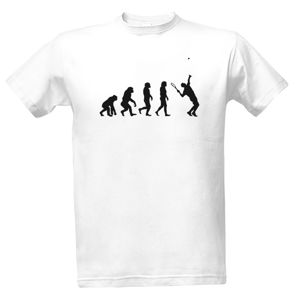 Evolution tennis player T-shirt