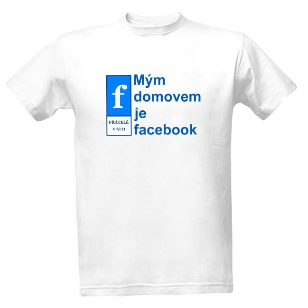 tričko s potiskem facebook pánské