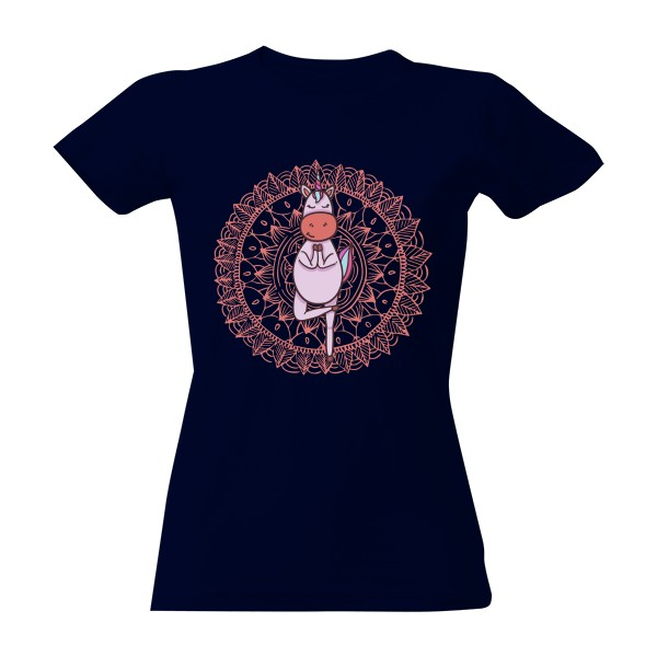 Unicorn Yoga Mandala T-shirt