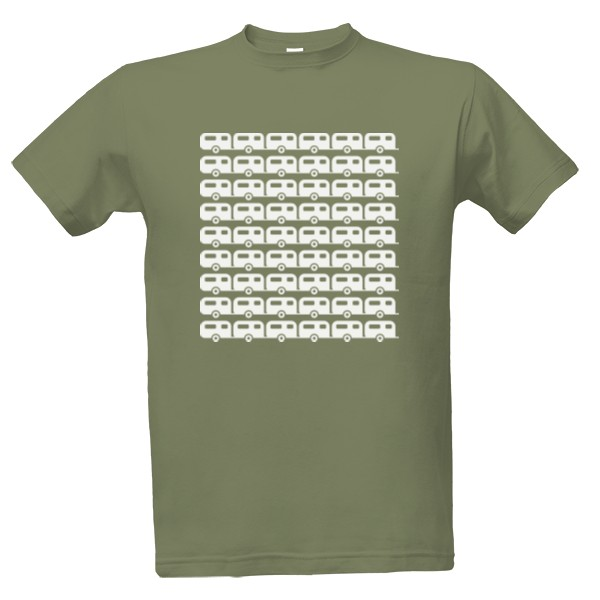 tričko s potiskem Karavany pánské