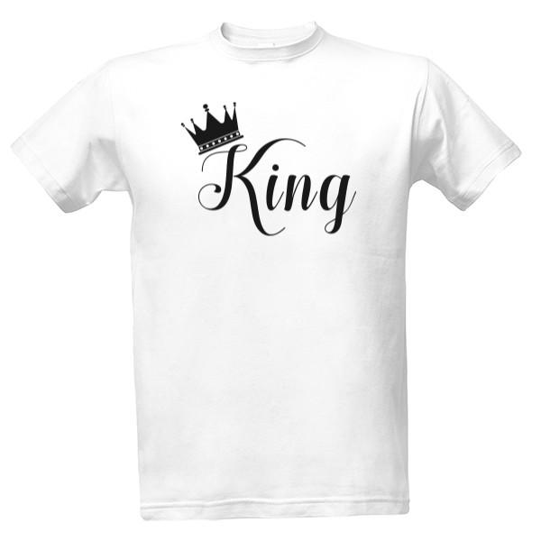 T-shock tričko s potiskem King pánské Bílá XS 4719eea3f7