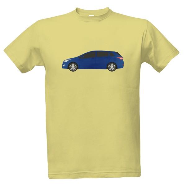 Tričko s potiskem Pánské tričko - Auto modré  86f252afdb