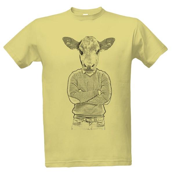 -27% · Tričko s potiskem Kráva člověk 8fee95e822