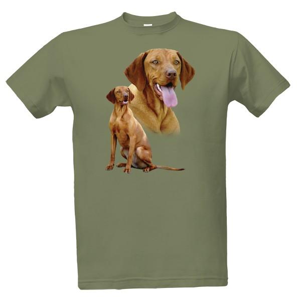 tričko s potiskem Maďarský ohař pánské
