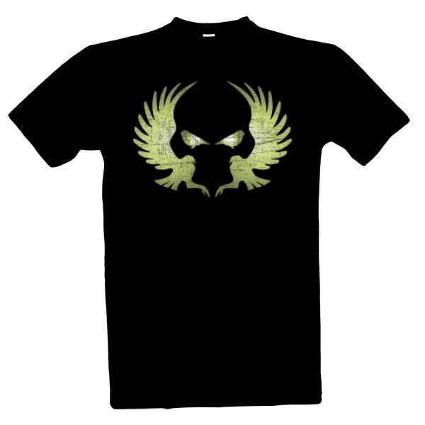 Tričko s potiskem Lebka ptáci 2bd793945d