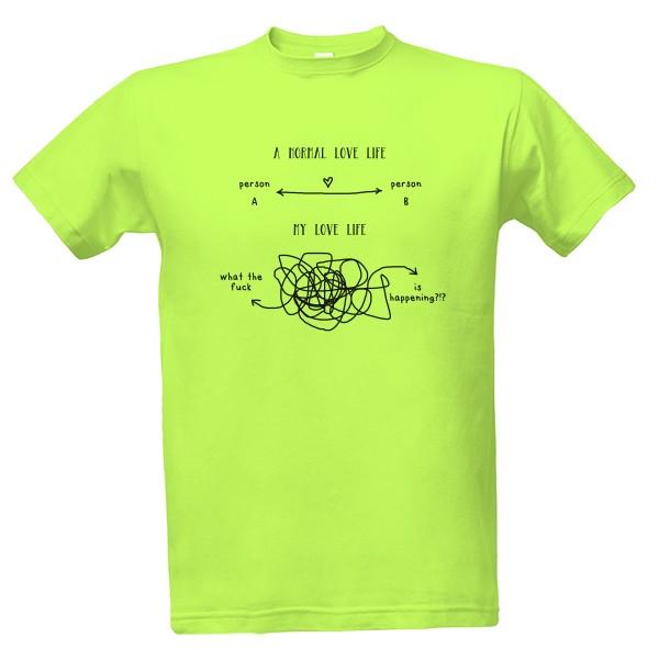 Tričko s potiskem love life 7f08099bff