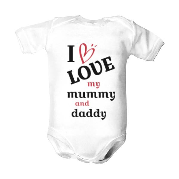 5d1fc8ab99b7 T-shock tričko s potiskem Love my mum and dad-w dětské Bílá 86
