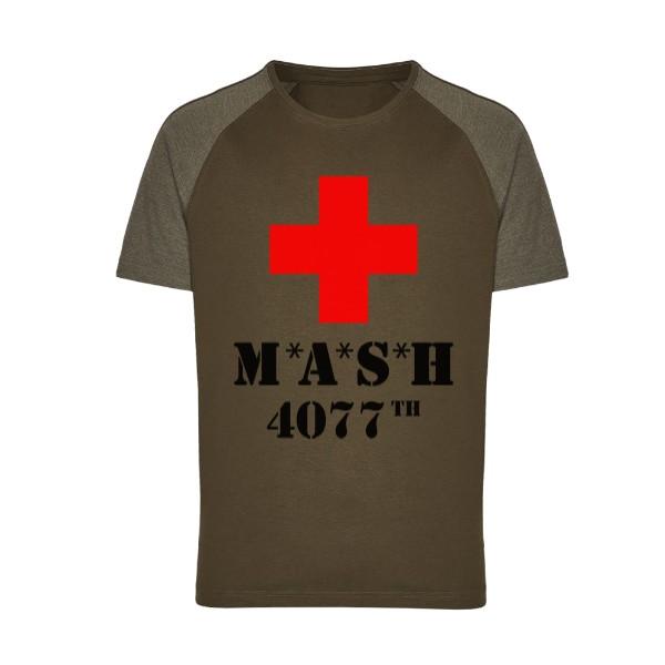 397bc6094785 Tričko s potlačou MASH a červený kříž