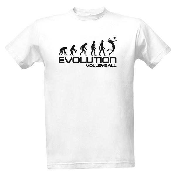 2330331a491 Tričko s potiskem Evoluce volejbalu