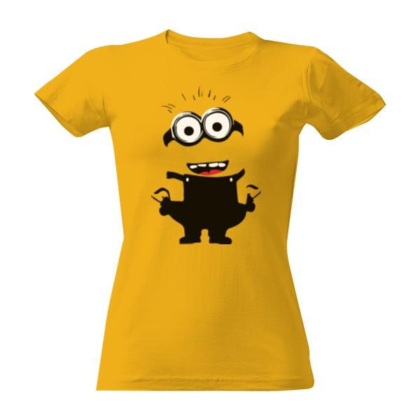 7a62b06045c7 T-shock tričko s potiskem Mimoň postava dámské Zlatá S